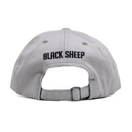 Boné Black Sheep Aba Curva Couro Face Cinza