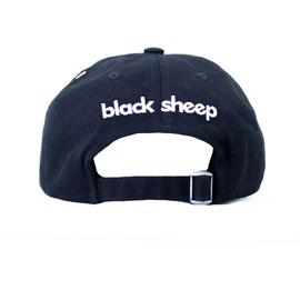 Boné Black Sheep Aba Curva Logo Classico Preto