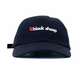 Boné Black Sheep Aba Curva New Escrita Preto
