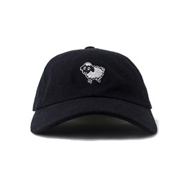 Bone Black Sheep Aba Curva Ovelha Preto
