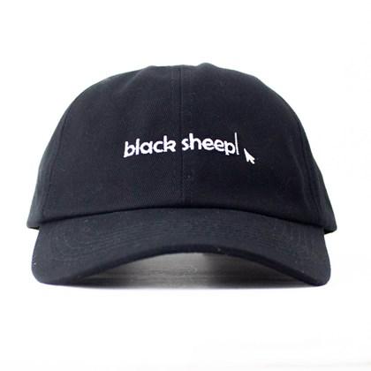 Boné Black Sheep Aba Curva Seta Preto
