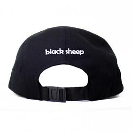 Boné Five Panel Black Sheep Jail Preto