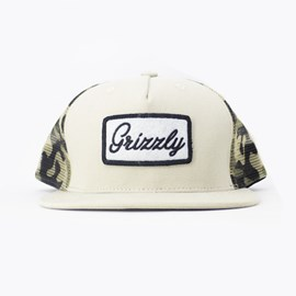 Bone Grizzly Cursive Trucker Khaki