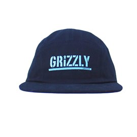 Boné Grizzly Five Panel Stamped Camper Unstructer black