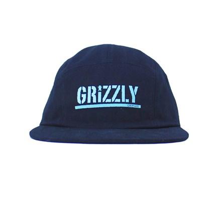 Boné Grizzly Five Panel Stamped Camper Unstructer black