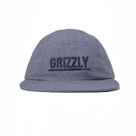 Boné Grizzly Five Panel Stamped Camper Unstructer Grey