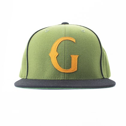 Bone Grizzly Native Snapback Verde