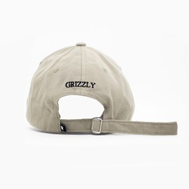 Bone Grizzly Og Bear Logo Dad hat Bege