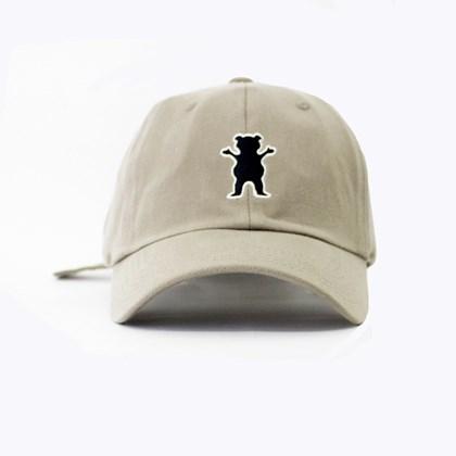 Bone Grizzly Og Bear Logo Dad hat Bege