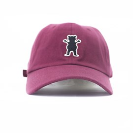 Bone Grizzly Og Bear Logo Dad hat Bordo
