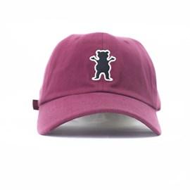 Bone Grizzly Og Bear Logo Dad hat Bordo