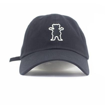 Bone Grizzly Og Bear Logo Dad hat Preto