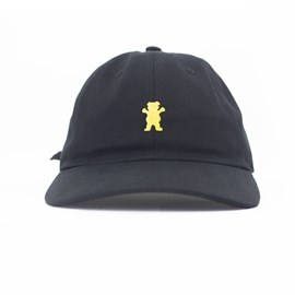 Bone Grizzly Og Bear Logo Dad hat Preto