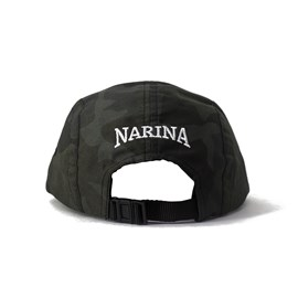 Bone Narina Five Panel Camuflado Escuro