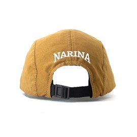 Bone Narina Five Panel Classic Logo Borracha Marrom