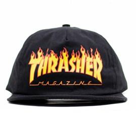 Boné Thrasher Magazine Flame Sad Snapback Preto