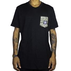 Camiseta Adidas Dakari Pocket Preta