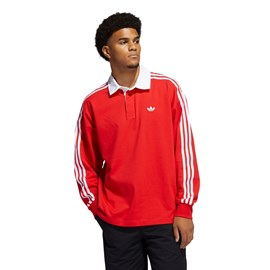 Camiseta Adidas Polo Rugby Solid Red GL9918