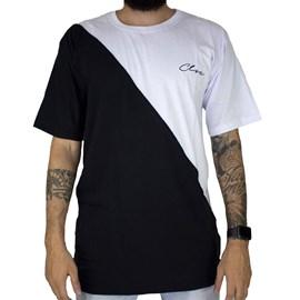 Camiseta Classic bicolor Preta Branco