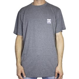 Camiseta Dc Shoes Basic Logo Preto Cinza