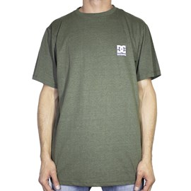 Camiseta Dc Shoes Basic Logo Preto Verde Militar