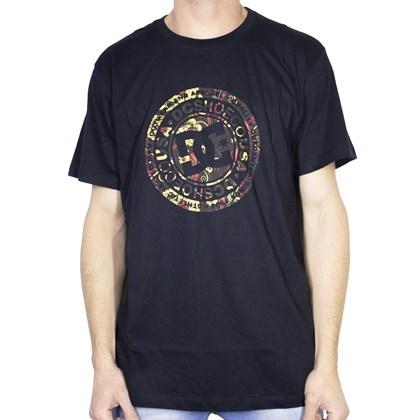 Camiseta Dc Shoes Circle Print Preta