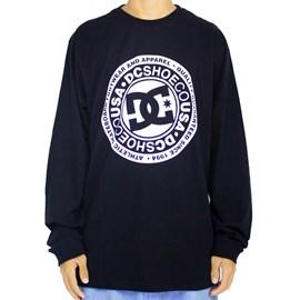 Camiseta Dc Shoes Circle Star Manda Longa Preto