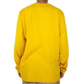Camiseta Dc Shoes Circle Star Manga Longa Amarelo