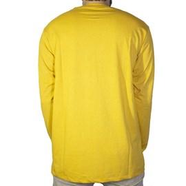 Camiseta Dc Shoes Dcshoeco Manga Longa Amarelo