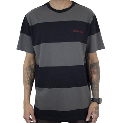 Camiseta Dc Shoes Lunning Cinza Escuro
