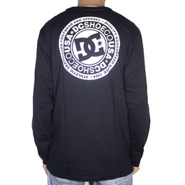 Camiseta Dc Shoes M/l Circle Star Black