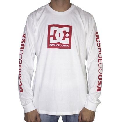 Camiseta Dc Shoes M/l Square White