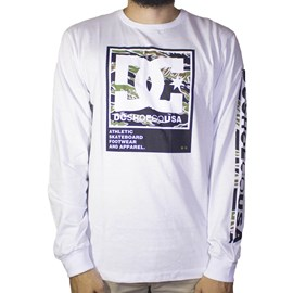 Camiseta Dc Shoes Manga Longa Arakana Branco