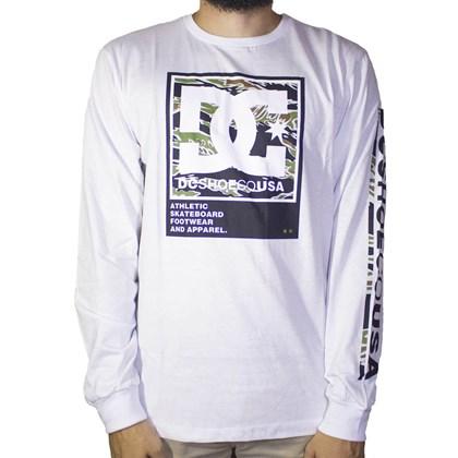 Camiseta Dc Shoes Manga Longa Arakana Branco