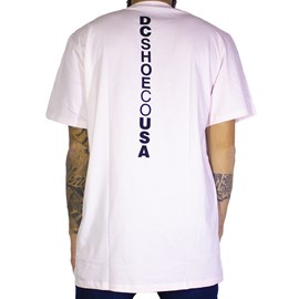 Camiseta Dc Shoes Rosa Claro