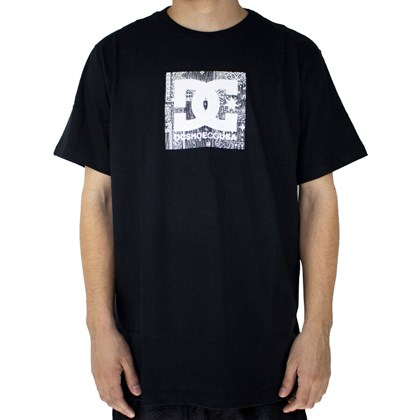 Camiseta Dc Shoes Square Star Bandana Fill Preto