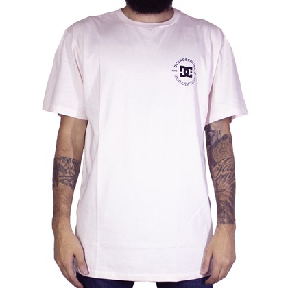 Camiseta Dc Shoes Work Rosa Claro
