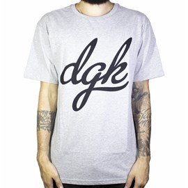 Camiseta Dgk Script Cinza