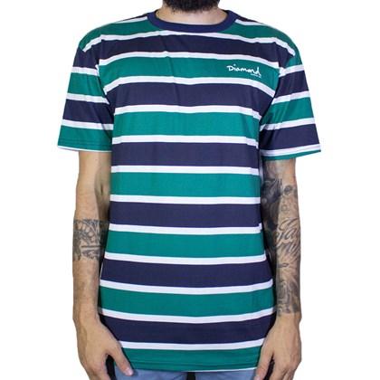 Camiseta Diamond Mini Og Script Striped Navy B19dmtf004