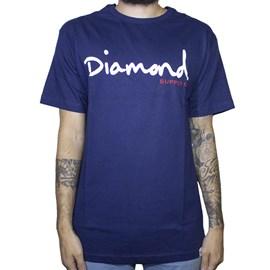 Camiseta Diamond Og Script B19dmpa001 Navy