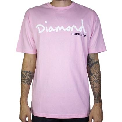 Camiseta Diamond Og Script Tee B19dmpa001 Rosa