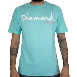 Camiseta Diamond Og Script Z15DPA01 Diamond Blue