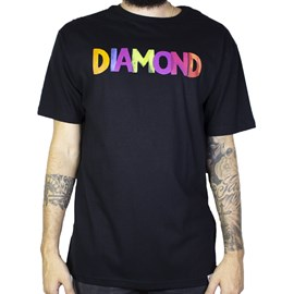 Camiseta Diamond Watercolor Front And Black