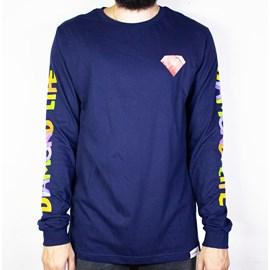 Camiseta Diamond Watercolors Long Sleeve B19DMPC005 Azul