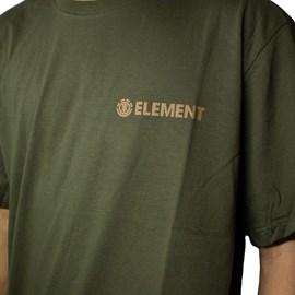 Camiseta Element Blazin Chest Verde Militar