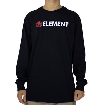Camiseta Element Blazin Manga Longa Preto
