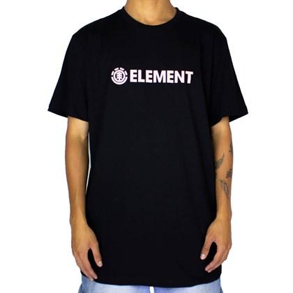 Camiseta Element Blazin Preto Rosa
