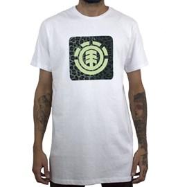 Camiseta Element Leopard Block Icon Branco