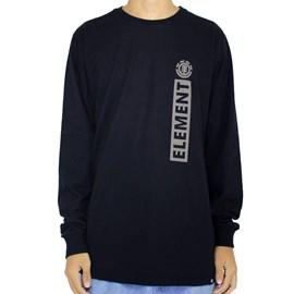 Camiseta Element Manga Longa Barcus Preto