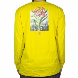 Camiseta future Manga Longa Botanical Mostarda